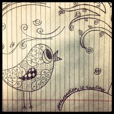 Perception is reality. Doodle. Draw. Bird. Tree. Whimsical.