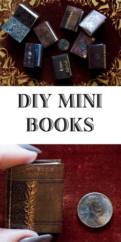 Miniature Books A Love Affair is part of DIY Book Binding Free Printable - Miniature Books are a never ending obsession! Join me for a fun tutorial together, we'll make magic! Dollhouse Miniature Tutorials, Miniature Crafts, Dollhouse Miniatures, Miniature Dolls, Diy Dollhouse Books, Décoration Harry Potter, Mini Craft, Creation Deco, Up Book