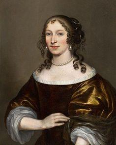 Porträt einer Dame mit Perlschmuck England