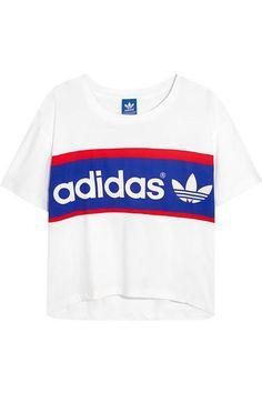 9a1fb8a95024 adidas Originals - City London printed cotton-jersey T-shirt