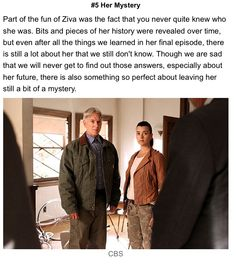 I wish there had been more answers about ziva's mysterious life