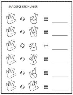 Adding Numbers With Pictures Preschool Writing, Numbers Preschool, Preschool Learning Activities, Preschool Printables, Teaching Math, Math Math, Kindergarten Addition Worksheets, Free Kindergarten Worksheets, Math For Kids