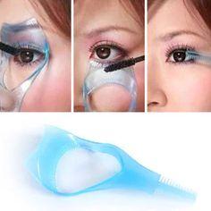 3 IN 1 Cosmetic Mascara Applicator Guide Eyelash Comb