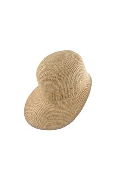 For the active and sporty ones – this durable cap will keep you stylish and safe under the sun Crochet Cap in Natural with Champagne Rim by G.VITERI
