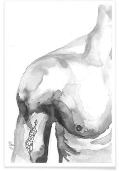 Ich bin Afloat VON Larissa van der Laan jetzt im Juni … Painting Inspiration, Art Inspo, Art Sketches, Art Drawings, Arte Sketchbook, Art Et Illustration, Gay Art, Drawing People, Erotic Art