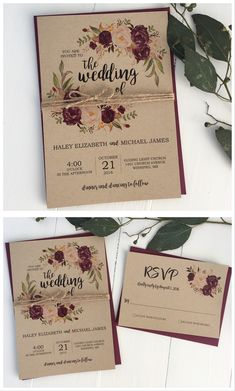 Pretty Photo of Burgundy Wedding Invitations Burgundy Wedding Invitations Rustic Wedding Invitation Marsala Wedding Invitation Burgundy Make Your Own Wedding Invitations, Rustic Invitations, Wedding Stationary, Wedding Invitation Cards, Wedding Cards, Invitation Paper, Invitation Suite, Burgundy Wedding Invitations, Vintage Wedding Invitations