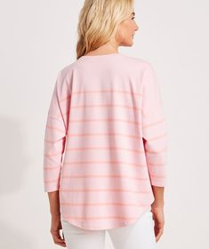 Shop Striped Deluxe Tee at vineyard vines Oversized Shirt, Vineyard Vines, Tees, Shirts, Feminine, Tunic Tops, Pullover, Casual, Sweaters