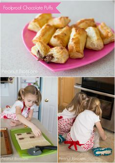 Simple holiday treat! Foolproof chocolate puffs. #recipe *Great for baking with kids.