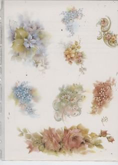 Misc Floral Patterns by Helen Humes China Painting Study | eBay