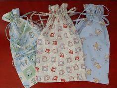 DIY cucito creativo! Tutorial Sacchetti per neonato, asilo, portatutto - YouTube