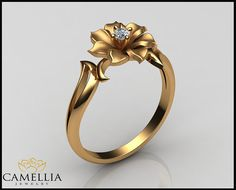 Yellow Gold Diamond Ring Leaf & Flower Ring by AyalaDiamonds Gold Diamond Rings, White Gold Diamonds, Gold Rings, Ring Designs, Jewellery Designs, Henna Designs, Gold Jewellery, Jewelry Rings, Gold Jewelry Simple