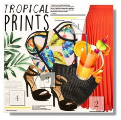 """Tropical Prints"" by myfashionwardrobestyle ❤ liked on Polyvore featuring New Look and Sensi Studio"
