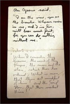 A handwritten card containing a Bible verse that Apollo 11 astronaut Buzz Aldrin used during a lunar Holy Communion service is up for sale Thursday at a space-related auction. Neil Armstrong Facts, Guideposts Magazine, The Vie, Moon Surface, Buzz Aldrin, Answered Prayers, Finding God, Apollo 11, First Holy Communion
