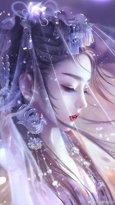 Anime Art Fantasy, Fantasy Art Women, Beautiful Fantasy Art, Dark Fantasy Art, Anime Angel Girl, Manga Anime Girl, Anime Girl Drawings, Animal Drawings, Pretty Anime Girl
