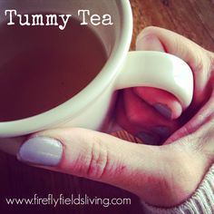 Firefly Fields Living: DIY Tummy Tea - Not sure about this yet and definitely don't have all the oils for it, but something to think about.