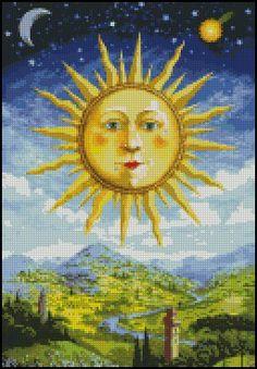 RENAISSANCE SUN cross stitch pattern No.153 by glenniz on Etsy, $4.99
