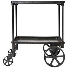Cast Iron and Steel Serving Trolley