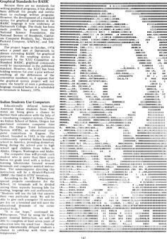 """Madonna and Child ASCII Art, Creative Computing Compendium (Standards for writing graphical programs in BASIC), from the magazine """"The Best of Creative Computing Volume 1"""" (1976)."""