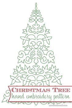 Embroider a Christmas tree! Here's a free hand embroidery pattern with lots of stitching possibilities! Click through for the PDF printable: http://www.needlenthread.com/2014/12/embroider-a-christmas-tree.html