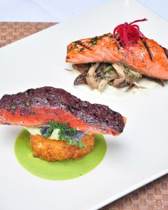 From COAST's Dine Out Vancouver 2014 Menu - Salmon Two Ways