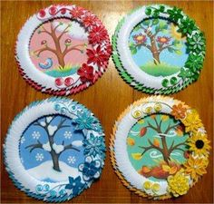 Paper Plate Crafts 545146729877333607 - Saisons Source by nadiaboudinar Kids Crafts, Summer Crafts, Fall Crafts, Projects For Kids, Diy For Kids, Diy And Crafts, Craft Projects, Arts And Crafts, Creative Crafts