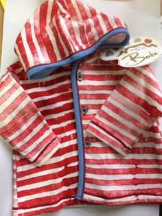 Balu Hand Painted Cotton Hooded Top  Match with the 2 piece outfits listed #Balu £6.99 #babyboysclothes #designerbaby