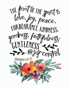 The Fruit of the Spirit - Galatians 5:22-23
