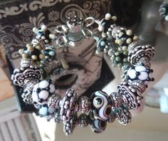 One of a Kind Sterling Silver and Lampwork Glass by bijoullery