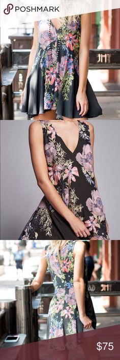 Free People Backyard Tunic Dress Brand new with tags, black combo, no flaws. Free People Dresses