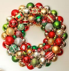 Christmas Wreath SALE 1215 16 Ornament Wreath by judyblank