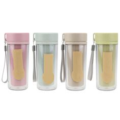 300ml Portable Wheat Straw Water Bottle Travel Double Layer Water Bottle for Home, Office, School Eco-friendly Drinkware