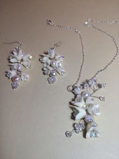 Cold Porcelain Collier Necklace Earring with by WorldOfIrena