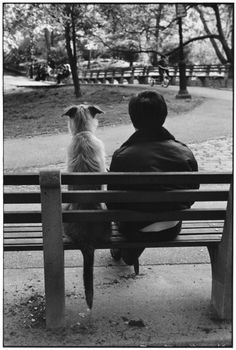 "New York City, 1977 by Elliott Erwitt Elliott Erwitt (b. 26 July 1928 Paris, France) is an advertising and documentary photographer known for his black and white candid shots of ironic and absurd situations within everyday settings— a master of Henri Cartier-Bresson's ""decisive moment""."