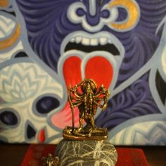An altar with Kali - the Tantric Mother Goddess