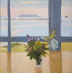 """Flowers by the Sea, Fairfield Porter, 1965, MoMA: Painting and Sculpture Larry Aldrich Foundation Fund Size: 20 x 19 ½"""" (50.6 x 49.5 cm) Medium: Oil on board Still Life Painting, Fairfield Porter, Flower Painting, Art Painting, Artist Inspiration, Floral Art, Still Life Art, Painting, Art"""