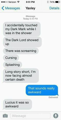 Harry potter stuff oh my god LMAO! Harry Potter Texts, Harry Potter Fandom, Harry Potter World, Harry Potter Imagines, Yer A Wizard Harry, Grunge, Harry Potter Universal, Drarry, Mischief Managed