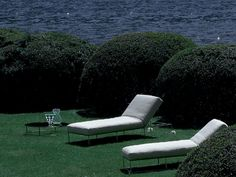 Recliner garden daybed Lounge chair Ile club Collection by Living Divani | design Piero Lissoni
