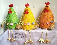 China Easter Decoration - Cock Find details about China Cock Craft, Holiday Gift from Easter Decoration - Cock - Da Dong Design Ltd. Crafts To Make And Sell, Diy Arts And Crafts, Jute Crafts, Decor Crafts, Easter Crafts For Kids, Easter Gift, Paper Mache Animals, Plastic Bottle Crafts, Art N Craft