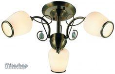 Люстра INL-6108С-03 Antique brass & Walnut (8599879600975)