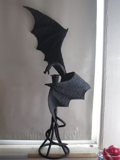 Hand Forged Metal Dragon Sculpture Candle Holder by LockeForge, $300.00