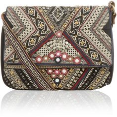 Accessorize Jolene Wow Embellished Across Body Bag ($59) ❤ liked on Polyvore featuring bags, handbags, shoulder bags, woven purse, crossbody shoulder bags, shoulder strap bags, embroidered handbags and sequin shoulder bag