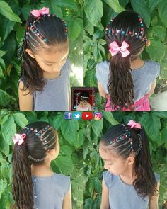 teenage hairstyles girls Half Up Little Girl Hairdos, Little Girl Braids, Baby Girl Hairstyles, Girls Braids, Ponytail Hairstyles, Pretty Hairstyles, Toddler Hairstyles, Teenage Hairstyles, Roller Curls