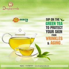 #Deerghayurveda- Health Tips Benefit of #GreenTee  #NoMoreExcuse #Stayhealthywithayurveda  Comment, Like & Share With Everyone. www.deerghayurveda.com | 24X7 Helpline: +91-9729071871