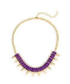 Luxury Spike Choker- Purple and Gold $12