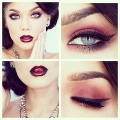 I need instructions on how to do this!! Burlesque make-up with ombre lip!