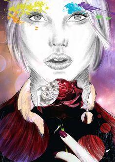 #portrait #model #fashion #illustration #skech #picture #photomontage #makeup #beauty #concept #digital