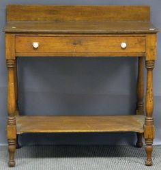 Skinner Discovery - Sale 2597M - Lot 678  Country Federal Pine Washstand  Est $200-$250