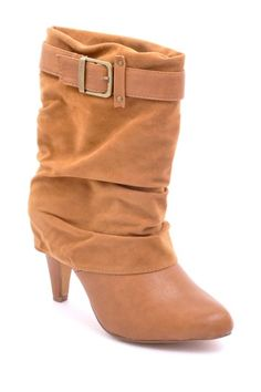 Go Max Olive Buckled Short Boot