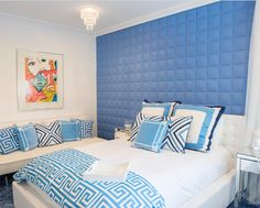 Choose color for your bedroom décor. If you want the bedroom feel cool, you can choose some cold color scheme, such as green, blue.