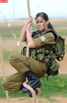 IDF.  You have to admire women soldiers.